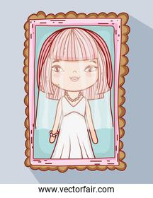 girl with weading dress picture of marriage