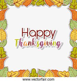 autumn leaves background to thanksgiving celebration