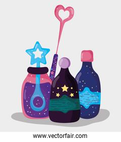mystery potions effect and magic wand