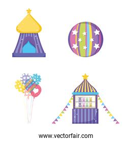 set circus big top with ball and toys store