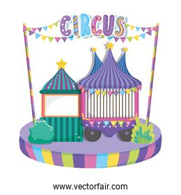 circus car with store to party entertainment