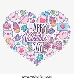 heart shape with valentine day decoration