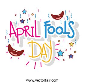 smiles with stars to april fools day