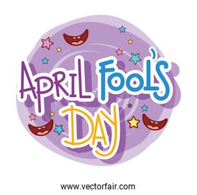 april fools day with smiles and stars