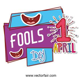 smiles with first april and fools day celebration