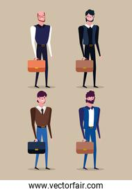 people characters business flat design