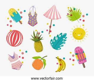 hello summer holiday things design
