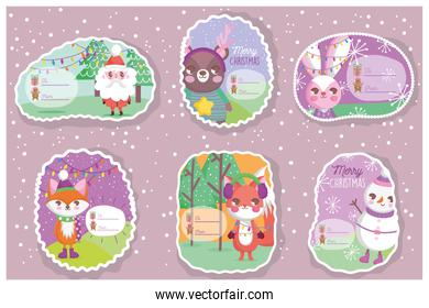 happy merry christmas tags collection