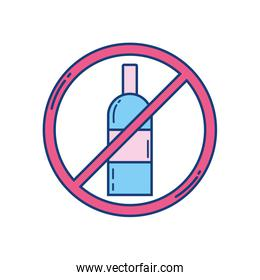 attention forbidden alcohol sign icon