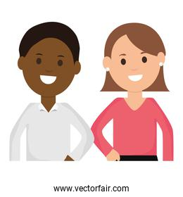 youth interracial couple characters