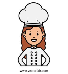 young female chef avatar character