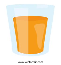 glass with beverage icon vector illustration
