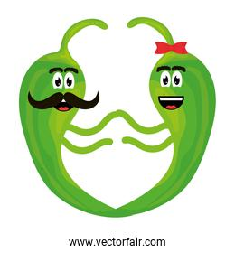 chilli peppers comic characters vector illustration