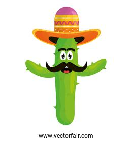 mexican cactus with hat emoji character