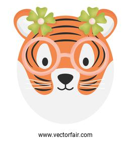 cute female tiger childish character