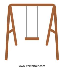 swing wooden isolated icon vector illustration