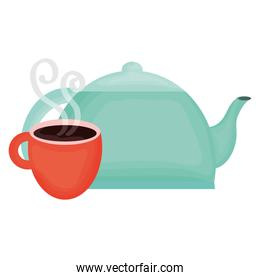kitchen teapot with coffee cup