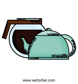 kitchen teapot with coffee maker