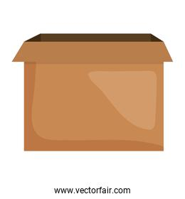 carton box packing icon square frame and birthday elements vector illustraitor