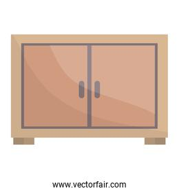 wooden drawer forniture icon square frame and birthday elements vector illustraitor