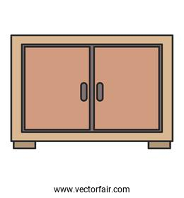 wooden drawer forniture icon vector illustration