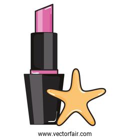 female lipstick with star makeup product