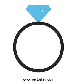 engagement ring with diamond vector illustration