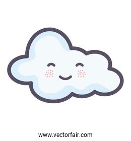 cloud sky weather kawaii character