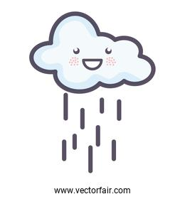 cloud sky rainy weather kawaii character
