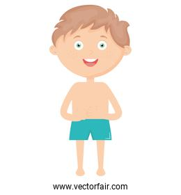 little boy with swimsuit character