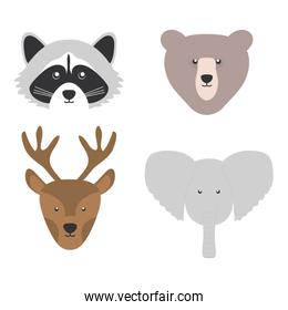 group of woodland animals characters