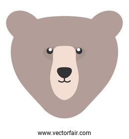 cute bear grizzly animal character