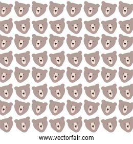 cute bears grizzly pattern background