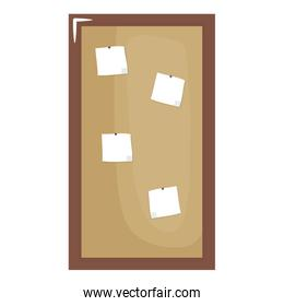 paper notes board isolated icon