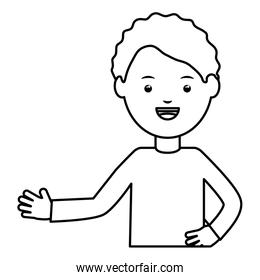 young male teacher education character