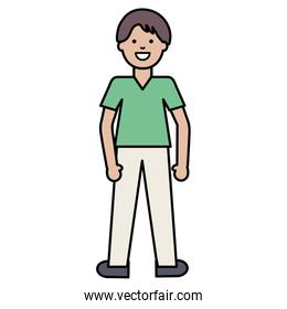 happy young man avatar character