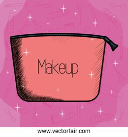make up bag container icon