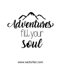 travel adventure calligraphy messsage font