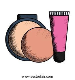 blush make up with bottle
