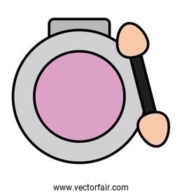 blush and brush make up drawing icon