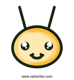 cute little bee insect head