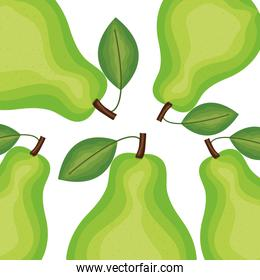 fresh pears fruits nature pattern background