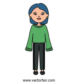 cute woman urban style character