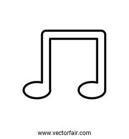 music note symbol isolated icon