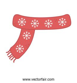 red scarf with snowflakes decoration merry christmas