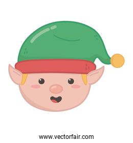 helper head with hat decoration merry christmas