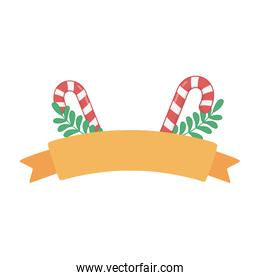 candy canes branches ribbon decoration merry christmas