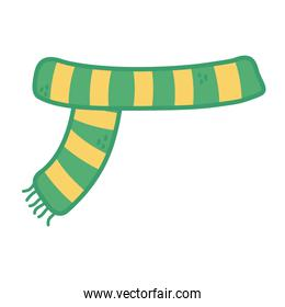 green and yellow warm scarf