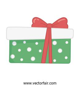 wrapped gift box red ribbon decoration merry christmas