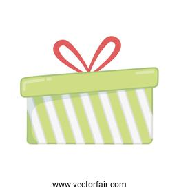 striped wrapped gift box decoration merry christmas